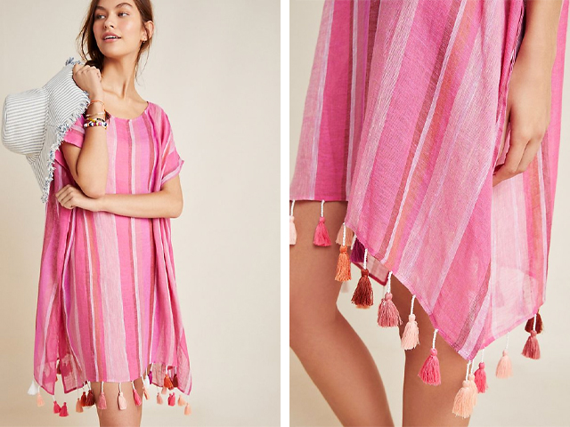Seafolly Horizon Striped Linen Caftan.