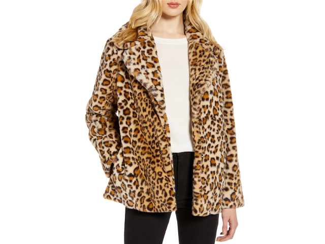 Faux Fur Coat HALOGEN.