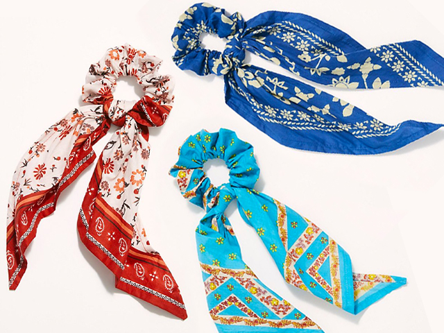 Free People Beau Bandana Scarf Pony.
