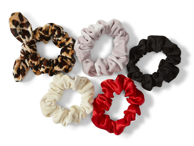 x Claudia Sulewski 5-Pack Velvet Scrunchies BP.