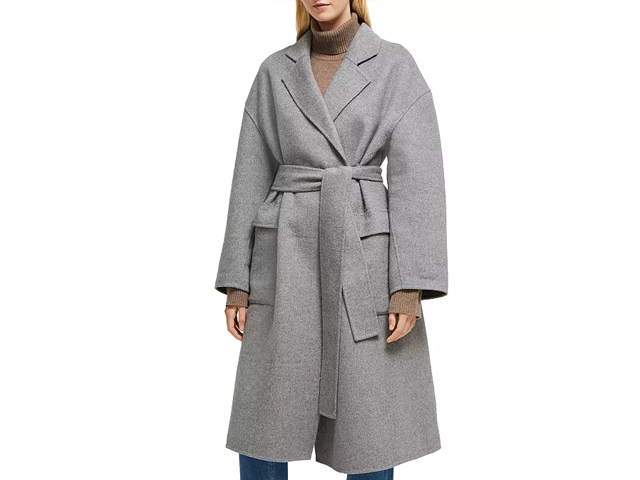 FRENCH CONNECTION Agatima Oversized Belted Coat.