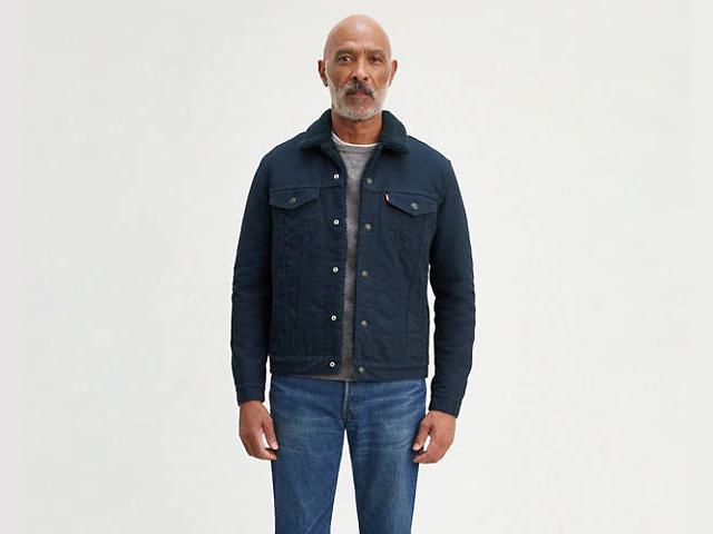 Levi's Canvas Sherpa Trucker Jacket.