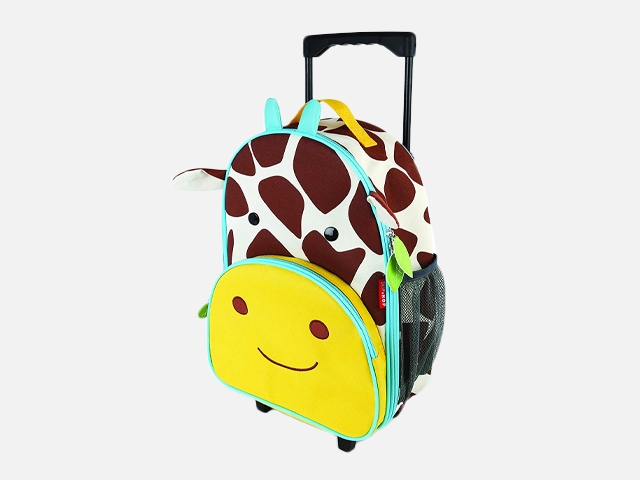 Skip Hop Kids Luggage With Wheels, Giraffe.