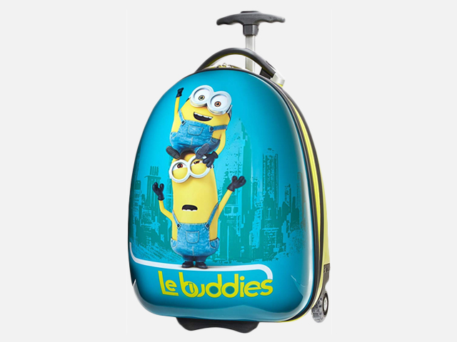 Travelpro Minions Kid's Hardside Luggage, Blue/Yellow.