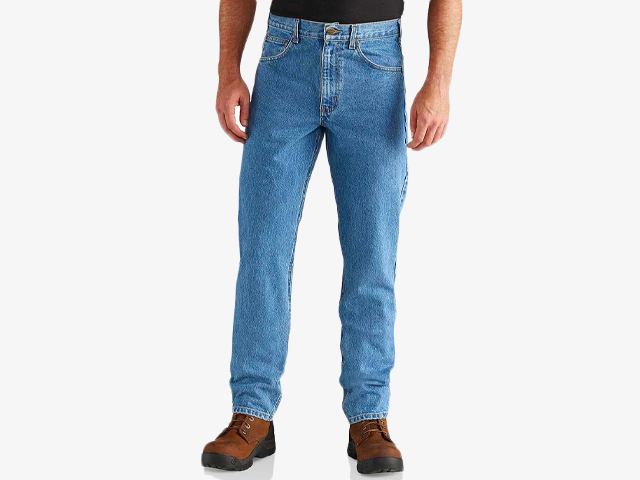STRAIGHT/TRADITIONAL-FIT TAPERED-LEG JEAN.