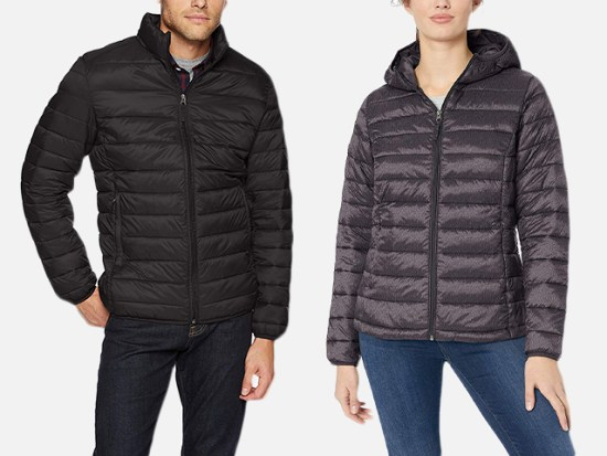 Amazon Essentials Water-Resistant Lightweight Puffer Jacket for Men and Women.