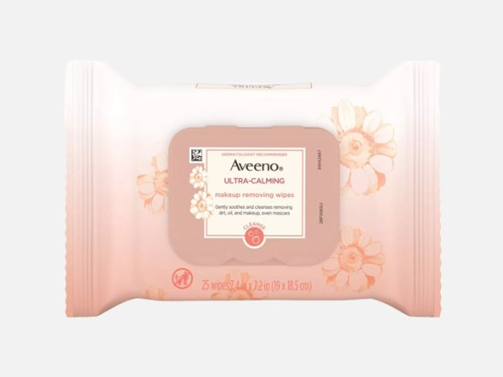 Aveeno Ultra-Calming Cleansing Makeup Removing Wipes.