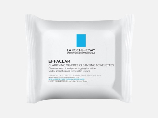 La Roche-Posay Effaclar Oil-Free Cleansing Face Wipes Towelettes.
