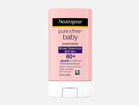 Neutrogena Pure & Free Baby Mineral Sunscreen Stick with Broad Spectrum SPF 60 & Zinc Oxide.