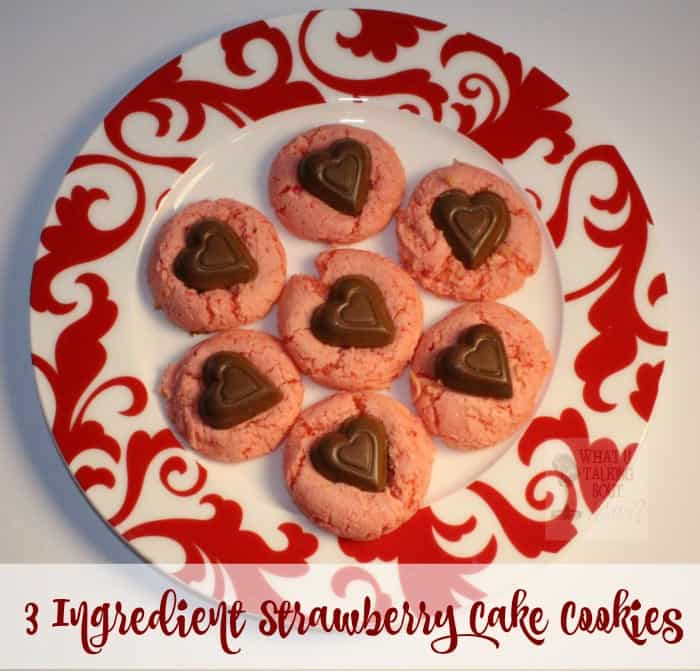 3 Ingredient Strawberry Cake Cookies