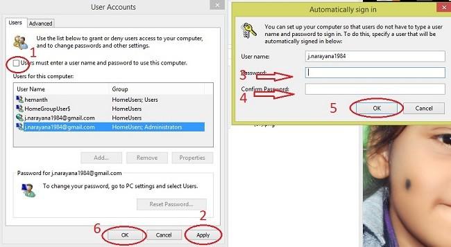 Remove Windows 8 login screen