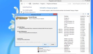 how to uninstall programs in windows xp/7/8/8.1
