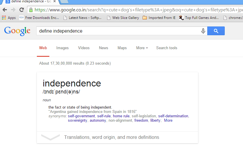 define independence