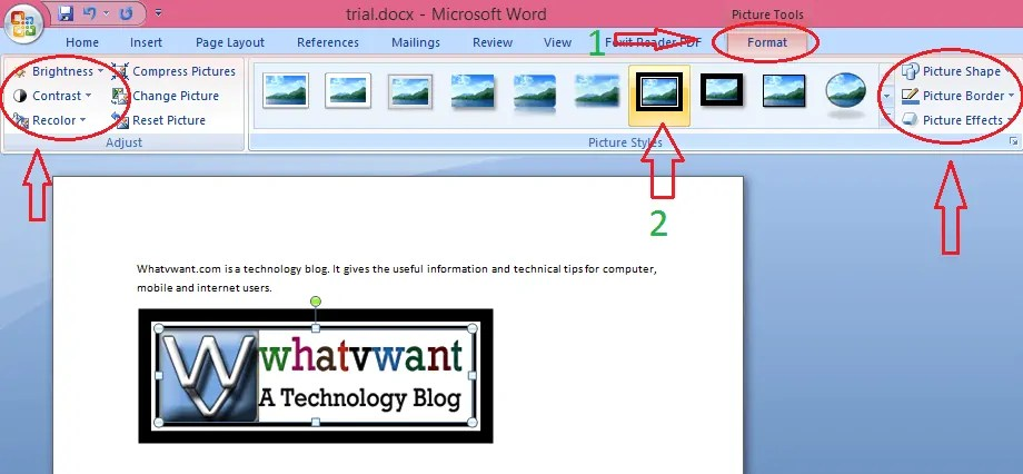 How to insert pictures in word