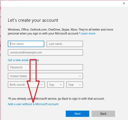 creating guest account on windows 10