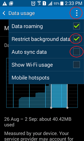 how to reduce data usage on android