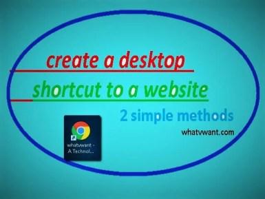 How to create a website shortcut on desktop - 2 simple methods