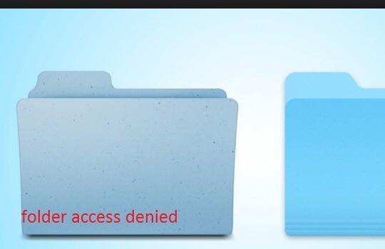 how fix the error access denied