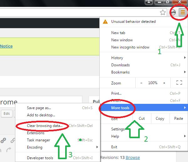 remove websites