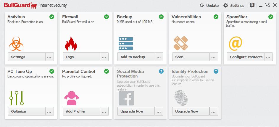 bullguard internet security features