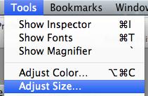 Resize image on Mac