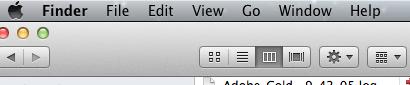 Finder window File Option