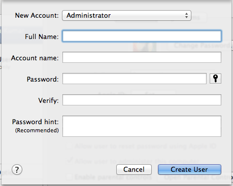 How to create a New Admin Account on Mac