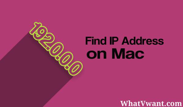 find ip address on mac