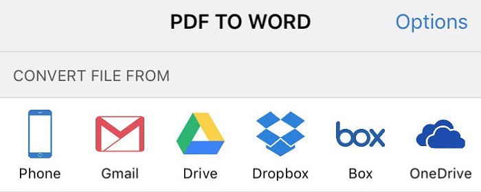 Convert PDF to word on iPhone