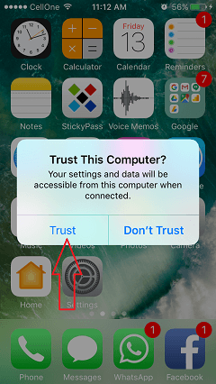 TunesGo connect pc to iphone