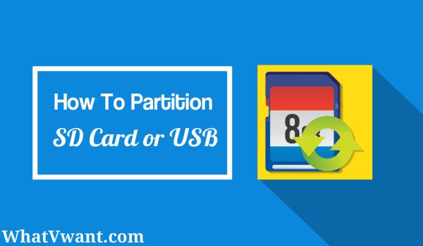 partition usb