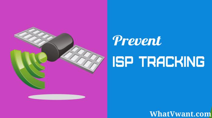 prevent isp tracking