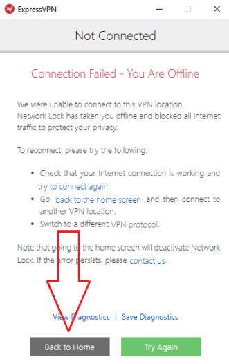 ExpressVPN network lock
