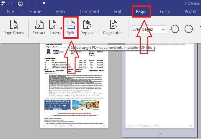 split pdf files with pdfelement