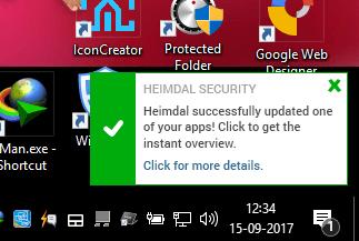 Heimdal app update