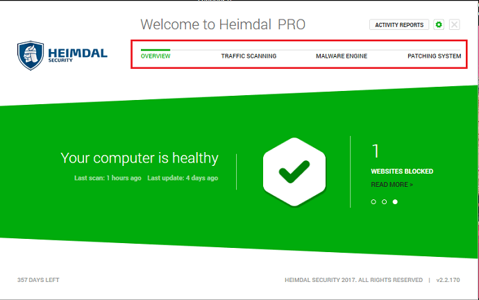 heimdal Security interface
