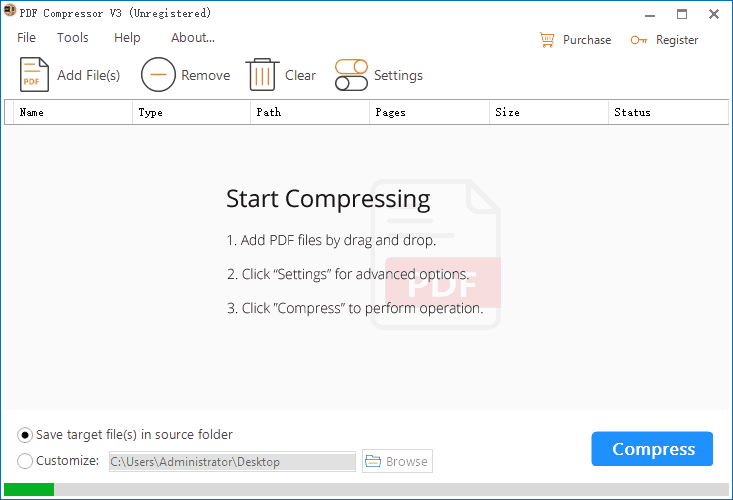 Shrink PDF on Windows