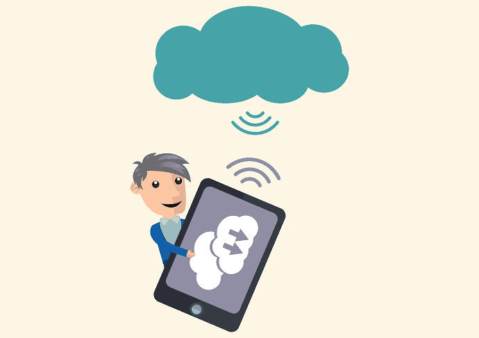 Store mobile data to cloud