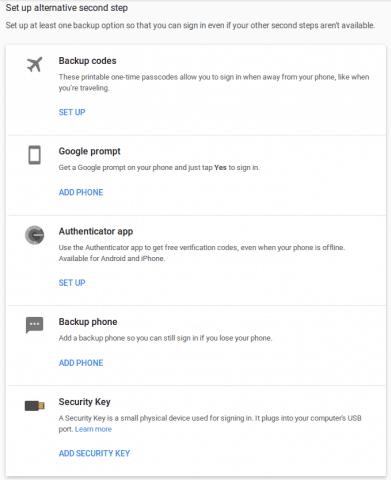 Setup 2FA Google