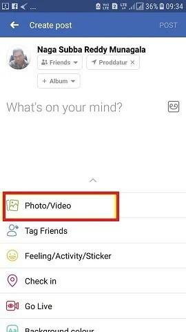 uploading video in fb
