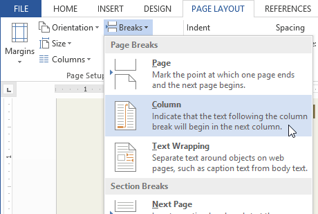 How to Add Page Break in MS Word 7