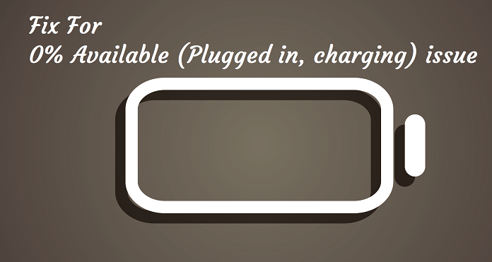 0% available plugged in charging