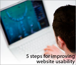 5 steps for improving website usability