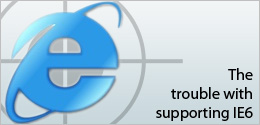 the trouble with supporting IE6 - whatwasithinking.co.uk