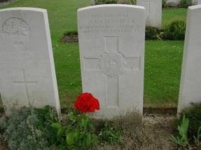 Headstone for Arthur Robert Chandler