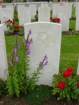 Headstone for David George Hackett