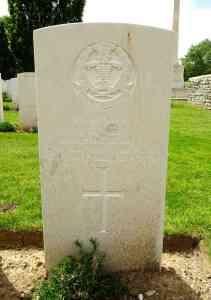 Headstone for John Raspin