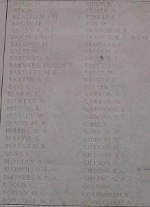 Memorial Panel for David Arthur Berrill