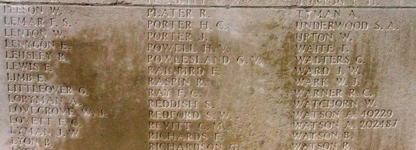 Memorial Panel for Edward Lenygon