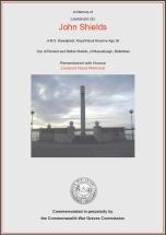 CWGC Certificate for John Shields